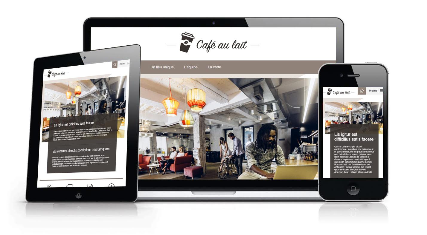 modèle graphique café
