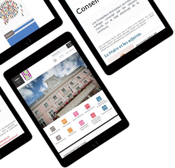 La mairie du Neubourg a procédé à une consultation courant 2018, pour mettre en place son nouveau site internet Responsive Design et ouvert pour les 1