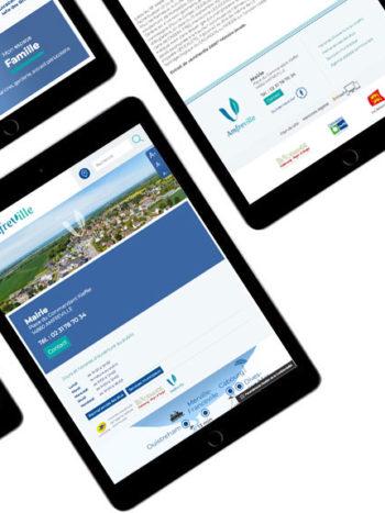 Krea3 a réalisé le logo et le site internet de la mairie de Amfreville dans le calvados.    Une nouvelle identité visuelle, pour un service aux 1
