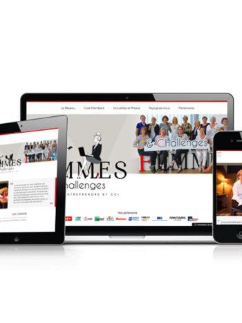 Femmes & Challenges, un réseau qui sait communiquer. Le site a été réalisé dans un délai très court, et selon une charte graphique 1