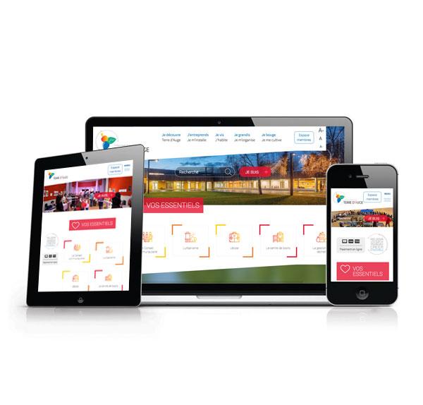 La communauté de communes Terre d'Auge a lancé son tout nouveau site internet.  Il est à destination des usagers, et se veut pratique et ludique 1